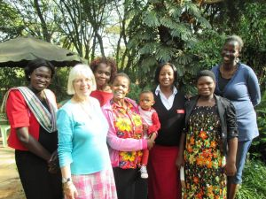 Barbara with some of the Bible-study group