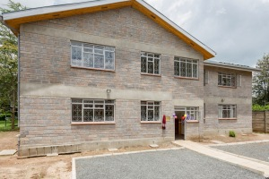 Completed staff housing at Tumaini